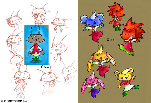 EARLY DEVELOPMENTS - Graphic researches for Cleo