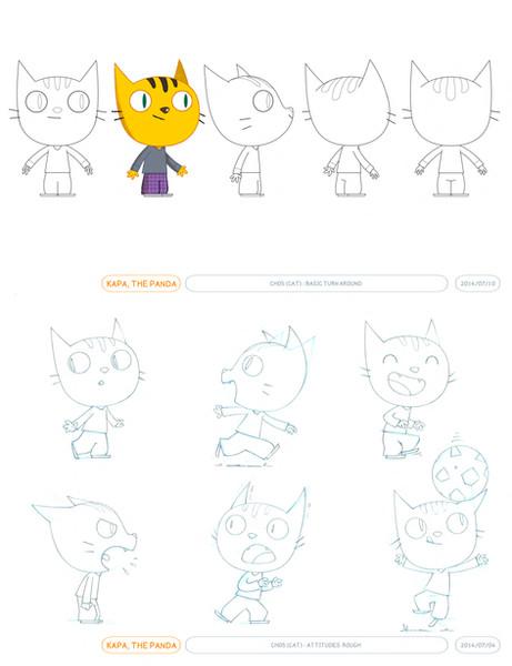 KAPA'S CAT FRIEND - Model Sheets