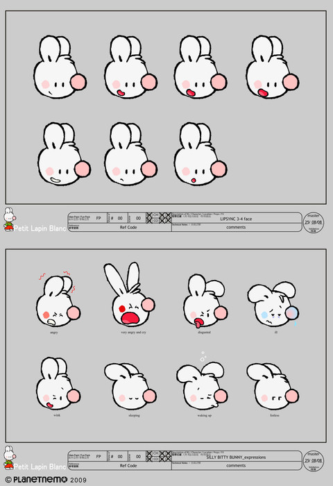 SILLY BITTY BUNNY - Model Sheets