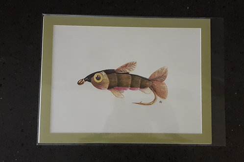 The Baby Trout Fly Giclee Print
