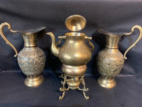 Ornate Extra Large Brass Kettle Bubbler (4)