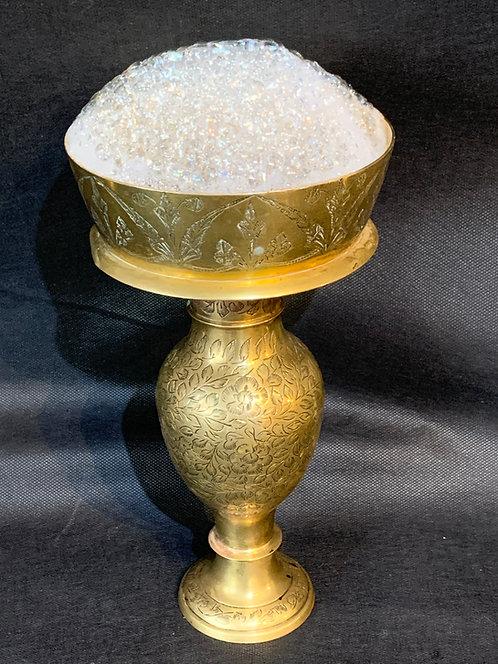 Ornate Brass Bubbler (1)