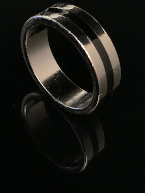 Magnetic Engraved PK Ring - Black Deluxe (3 Sizes)