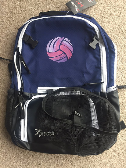 Brymbo Netball Back pack with ball netting