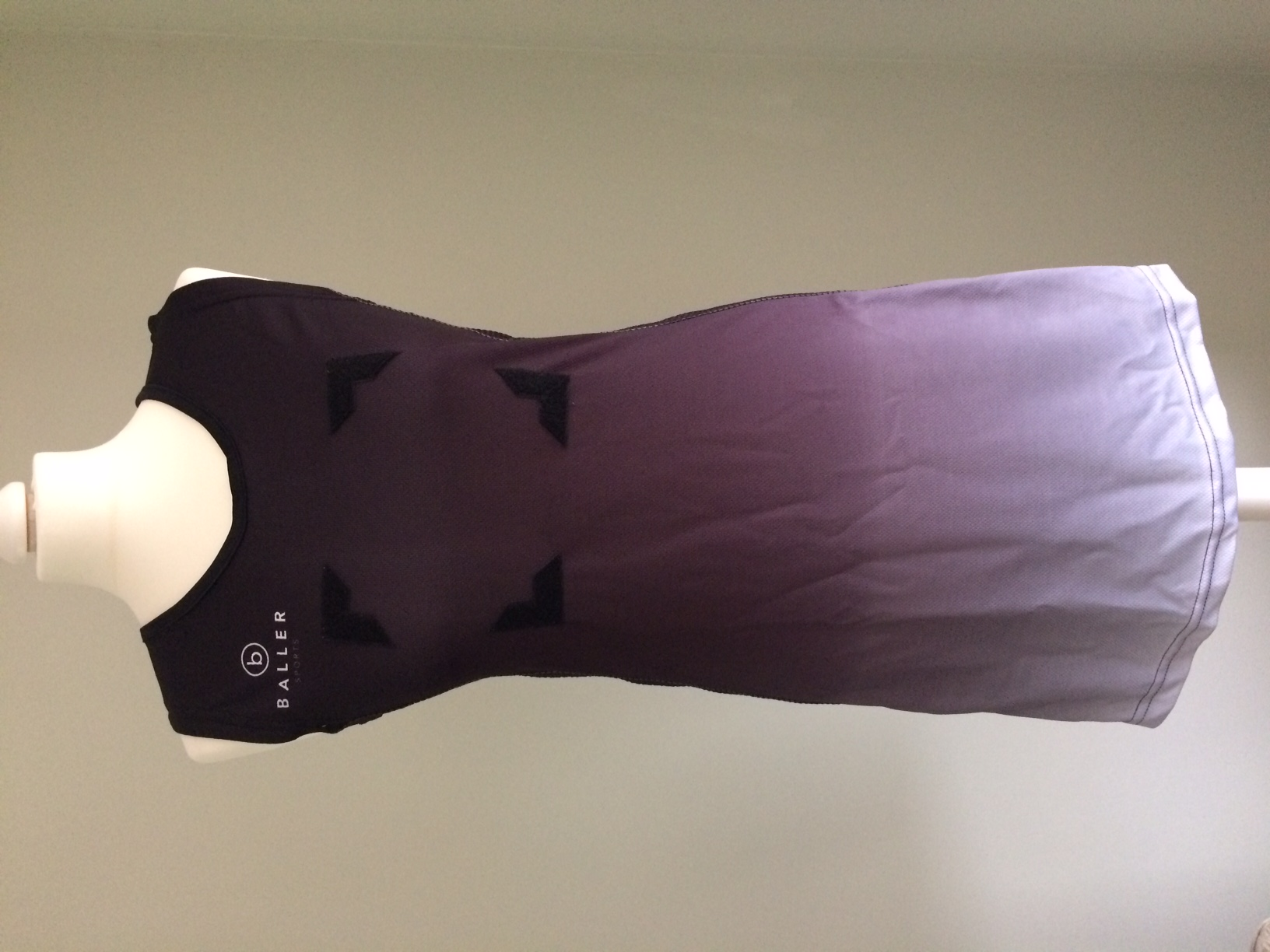 Netball Dress sample black_white front