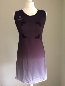 Netball Dress sample black_white front