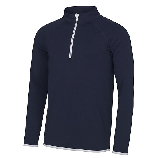 HALF ZIP FITTED SWEATSHIRT - CNC