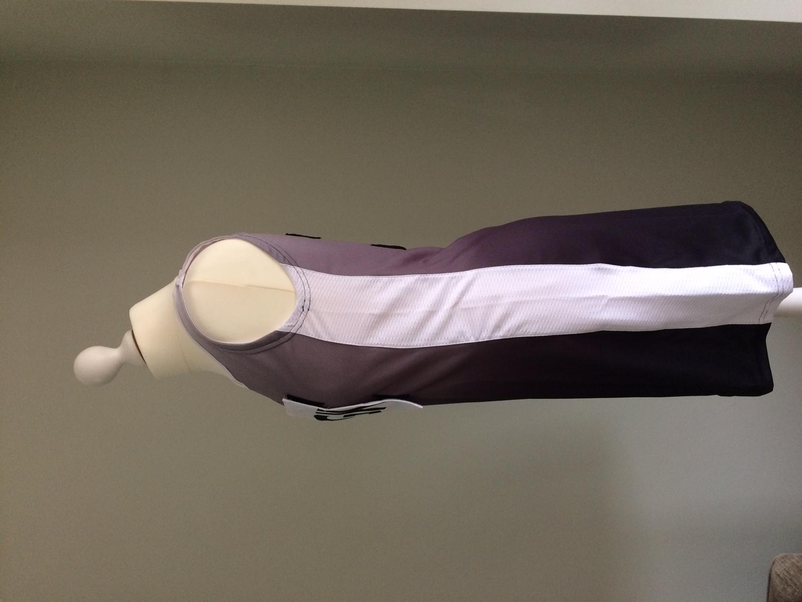Netball Dress Sample White_black side