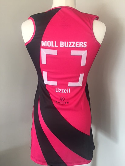 MOLL BUZZERS NETBALL DRESS - NO NAME