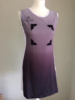 Netball Dress Sample white_black front
