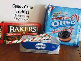 Simple Candy Cane Oreo Truffles