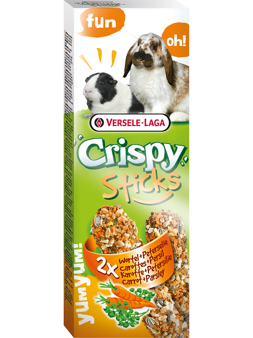 CRISPY Sticks Lapin&Cobaye Carottes&Persil 2 pièces