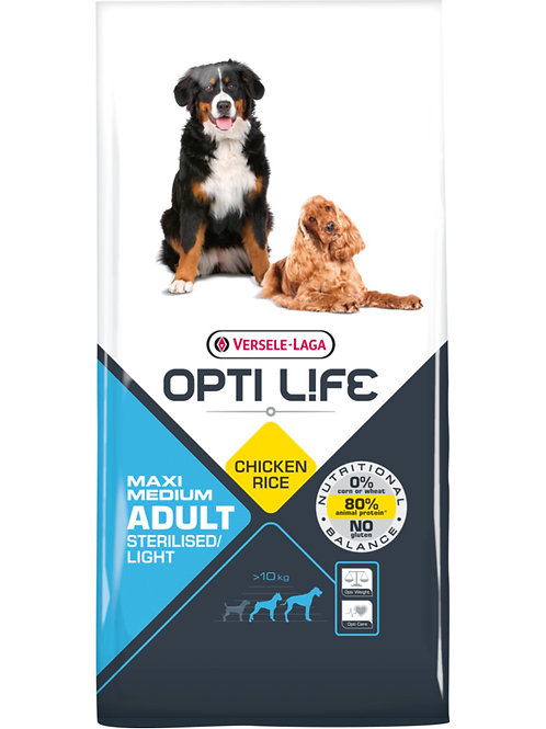 OPTILIFE Maxi&Medium Sterilised/Light 12.5 kg