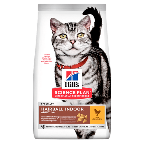 Hill's Adult Hairball Indoor Chicken 1.5 kg
