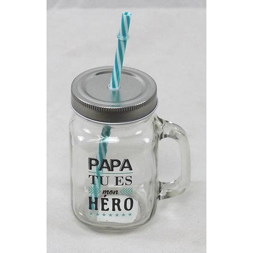 VERRE ' Papa tu es mon héro'