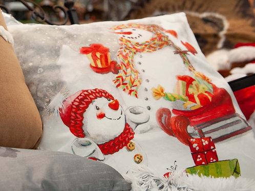 Coussin motif de Noël
