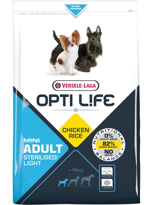 OPTILIFE Mini Adult Sterilised/Light 2.5 kg