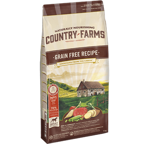 COUNTRY FARMS Grain Free Adulte Boeuf 2.5 kg