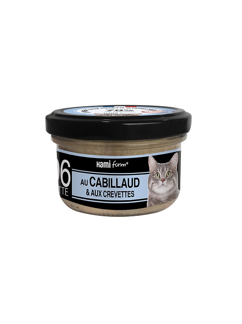 Hamiform Cuisinés Chat N°06 Cabillaud&Crevettes 80g