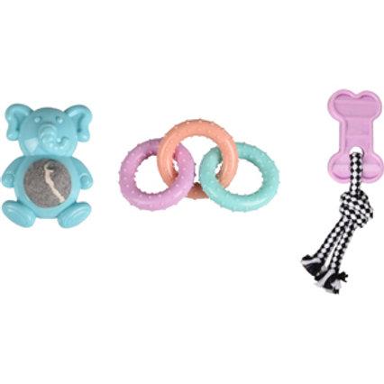 JOUET Chiot TPR Loekie 3 jouets