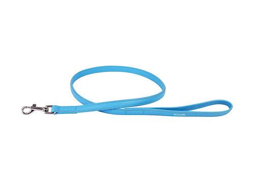 WAUDOG Laisse cuir bleu 122 cm 12 mm
