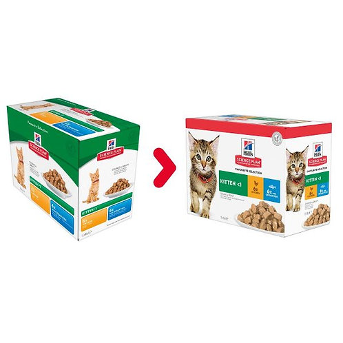Hill's Kitten Classic Selection Multipack 12x85g