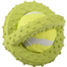 JOUET Chien Scrum Disque Tennis Vert 8 cm