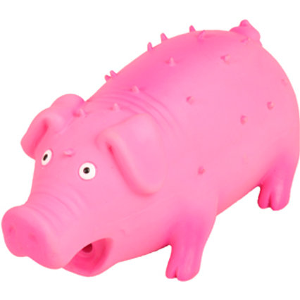 JOUET Chien Latex Cochon Avec Épines Rose