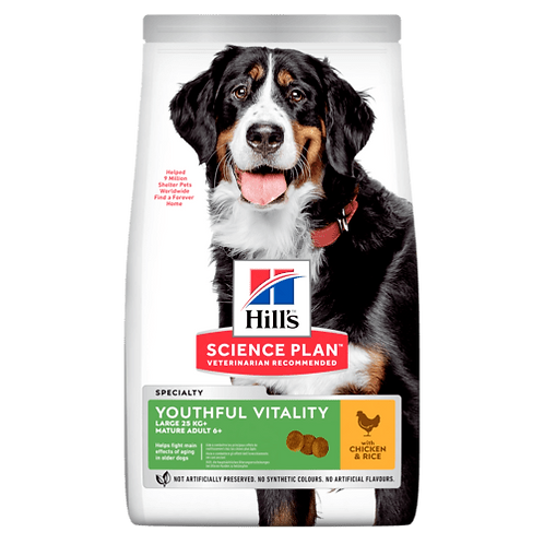 Hill's Mature 6+ large youthful vitality chicken 12 kg
