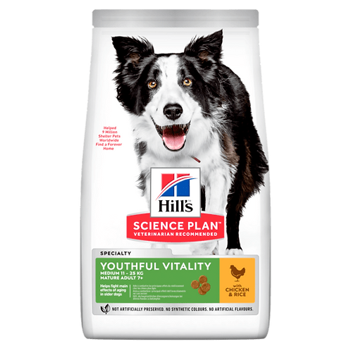 Hill's Mature 7+ medium youthful vitality chicken 2.5 kg