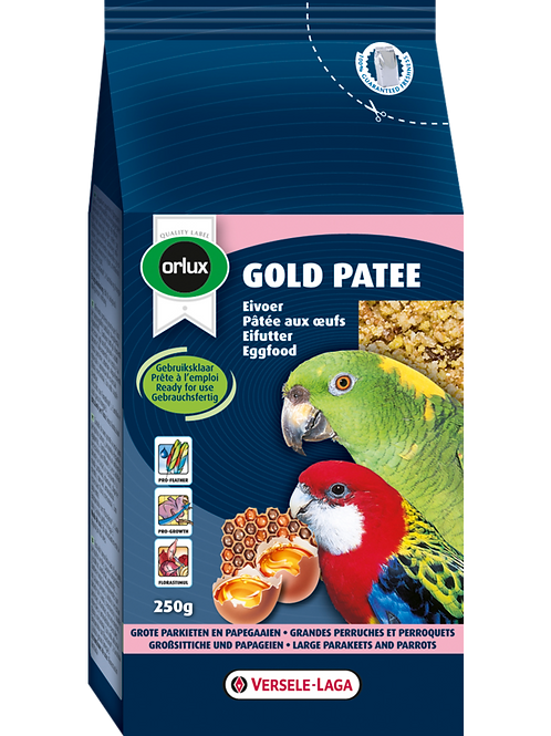 ORLUX Gold Patee Grandes Perruches et Perroquets 250g