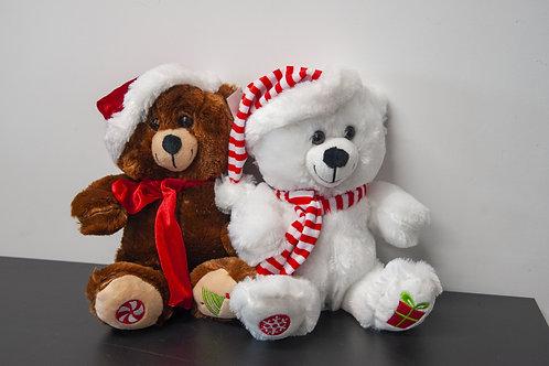 Ours peluche de Noël