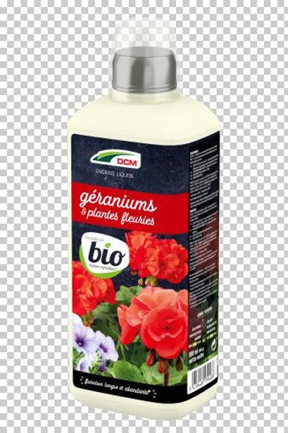 DCM Engrais Liquide Géranium & Plantes Fleuries 0.8L