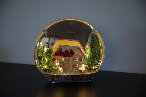 Maison de Noël illuminée