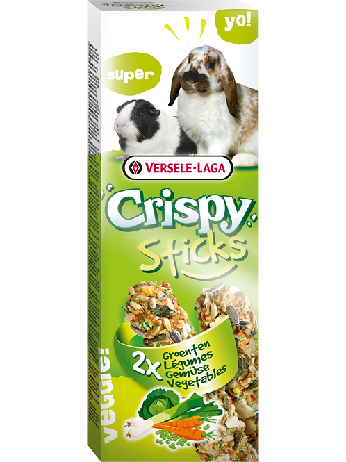 CRISPY Sticks Lapin&Cobaye Légumes 2 pièces