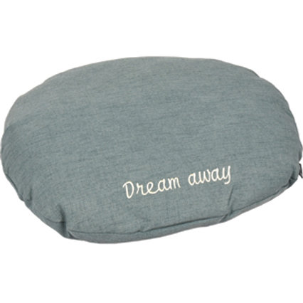 DREAM AWAY Coussin ovale gris 70x56x8 cm
