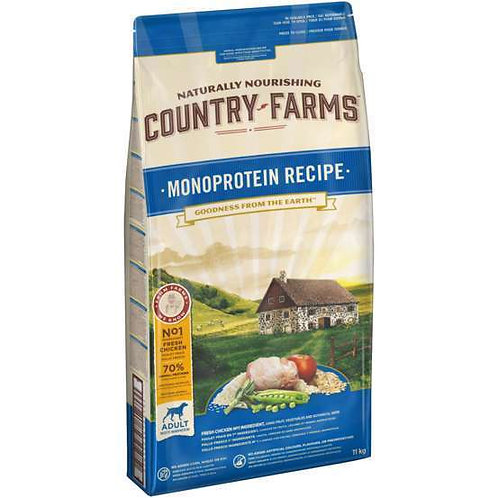 COUNTRY FARMS Monoprotéines Adulte Poulet 2.5 kg