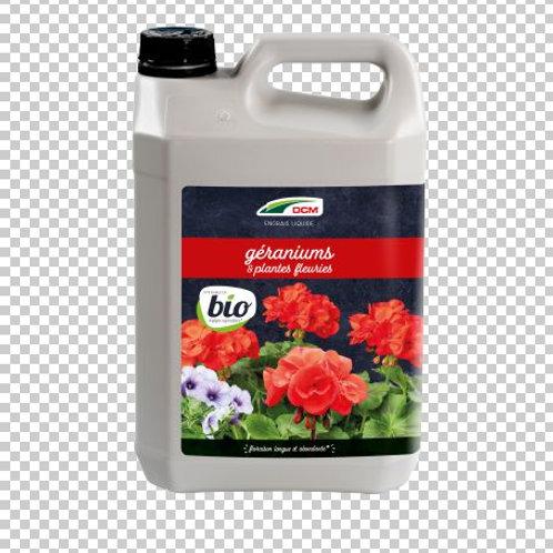 DCM Engrais Liquide Géranium & Plantes Fleuries 5L