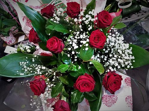 BOUQUET de Roses Longues Tiges