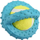JOUET Chien Scrum Disque Tennis Bleu 8 cm