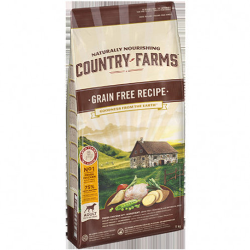 COUNTRY FARMS Grain Free Adulte Poulet 2.5 kg
