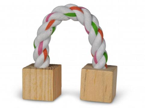 JOUET Rongeurs/lapin blocs bois et corde