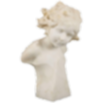 italian carved marble sculpture of a young girl