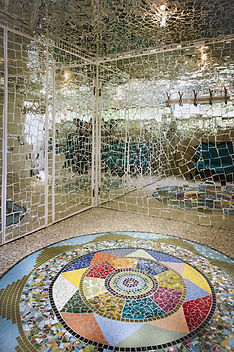 Mosaik-Spiegel-Entrée