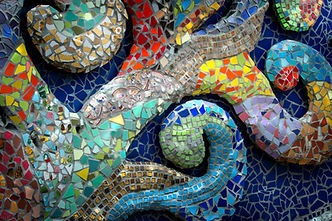 Mosaik Badezimmer Openair