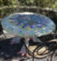 Mosaik Gartentisch