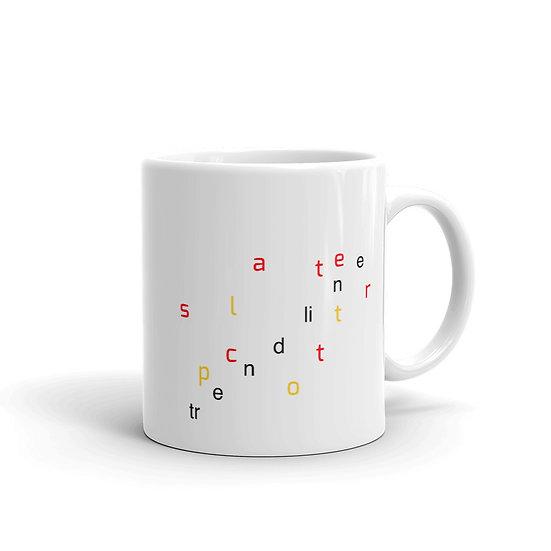 Dataviztypography - Scatter Plot Trendline - Mug