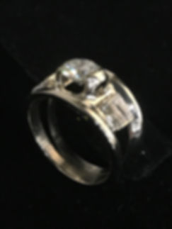 14K White Gold Ring created to celebrate a lifetime together with client's wedding set