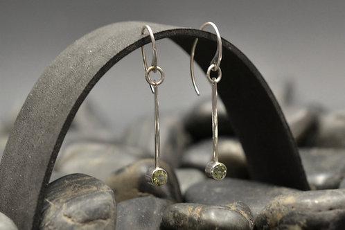 Gemstone Flare Earrings with Peridot