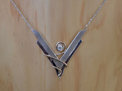 White Gold necklace created to celebrate a lifetime together with client's wedding set